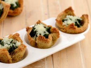 Spinach Tartlets Diabetic Snack By Tarla Dalal
