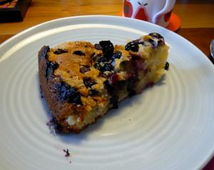 Blueberry Maple Syrup Cake