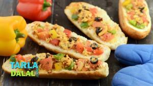 Italian Open Sandwich 1019640 By Tarladalal