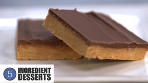 Chocolate Peanut Butter Squares 5 Ingredient Desserts