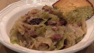 Cabbage With Smoked Ham Hocks