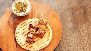 Souvlaki With Tzatziki Dip Easy Tasty Recipe 1017571 By Beingindiansawesomesauce