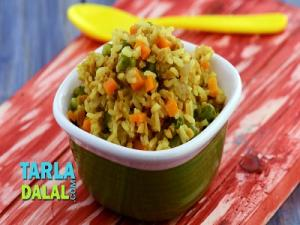 Soya And Vegetable Pulao