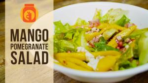Mango Pomegranate Salad Healthy Salad Recipe 1016749 By Beingindiansawesomesauce