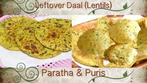 Leftover Daal Puris And Parathas Video Recipe Lentil Breads 1018364 By Bhavnaskitchen