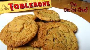 Toblerone Cookies One Pot Chef