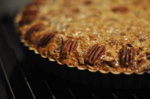 Praline Pecan Pumpkin Pie
