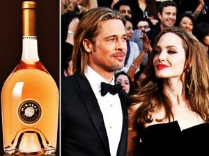 Angelina Jolie Brad Pitt Wine Red Carpet Rose Wine Tv