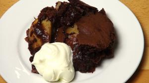 Chocolate Pear Pudding One Pot Chef
