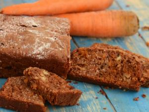 Chocolate Carrot Loaf By Tarla Dalal