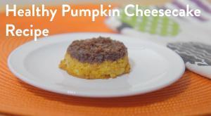 Vegan Low Sugar Pumpkin Cheesecake