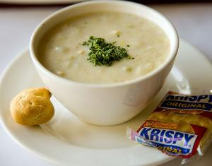 Cheesy Clam Chowder