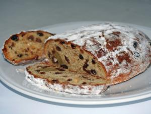 Stollen Bread With Icing