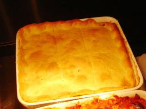 Baked Steak And Beef Pie