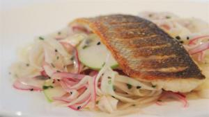 How To Make Seabass With Fennel And Apple Slaw 1006447 By Videojug