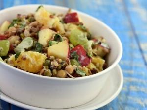 Fruity Bean Salad Pregnancy Recipe By Tarla Dalal