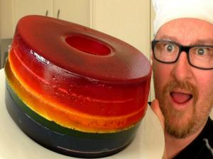 Giant Rainbow Gummy Donut