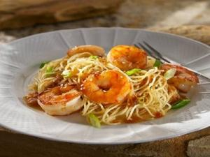 Chili Garlic Shrimp Sesame Noodles
