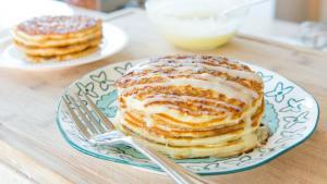 Cinnamon Roll Pancakes Recipe Breakfast And Brunch Food 1015249 By Fifteenspatulas