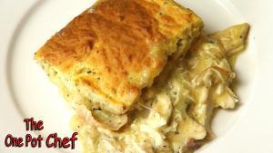 Creamy Chicken And Scone Bake One Pot Chef