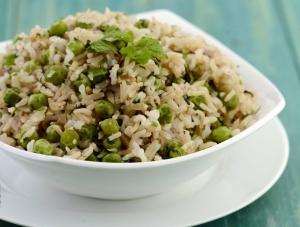 Green Peas And Mint Pulao Low Cholesterol Recipe By Tarla Dalal