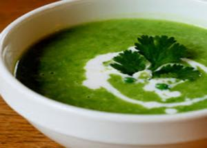 Chilled Minted Pea Soup