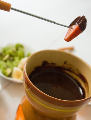Spirited Chocolate Fondue