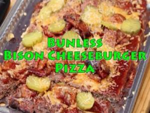 Bison Cheeseburger Pizza