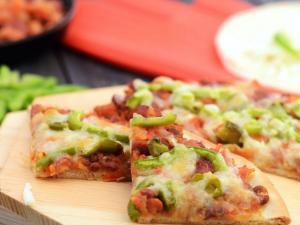 Bean And Capsicum Pizza By Tarla Dalal