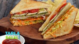 Veg Club Sandwich 1019434 By Tarladalal