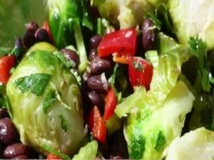 Brussels Sprouts And Bean Salad