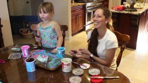 Amelia Frosting Her Own Birthday Cake 1018262 By Cherylshomecooking