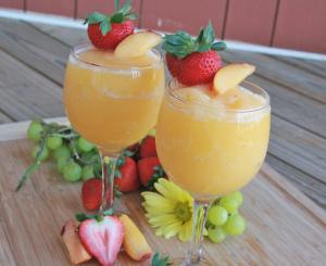 Peach Moscato Wine Slushies Make These Asap