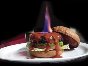 Restaurant Sets Spicy Burger On Fire Claims Its Hottest Burger In The World