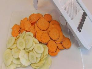 Mandoline Sliced Vegetables