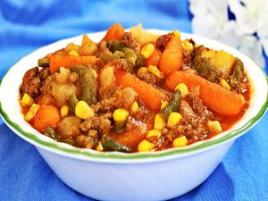 Crock Pot Ground Beef Casserole