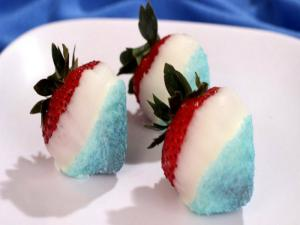 Redwhite And Blue Strawberries