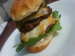 Jalapeno Double Cheese Burger First Cook On The Kettle Q