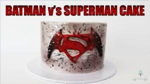Batman Vs Superman Cake 1016374 By Creativecakesbysharon