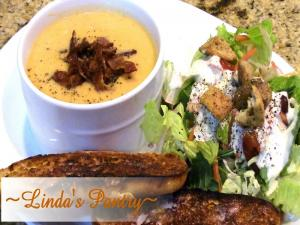 Sweet Potato Cauliflower Cheese Soup