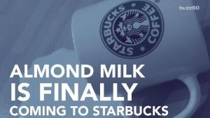 Almond Milk Is Coming To Starbucks 1017813 By Buzz 60