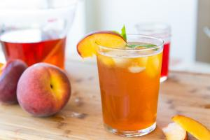 Homemade Sparkling Peach Iced Tea Nonalcholic Drink Miniseries 1017141 By Fifteenspatulas