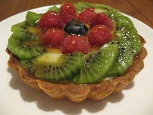 Almond Fruit Flan