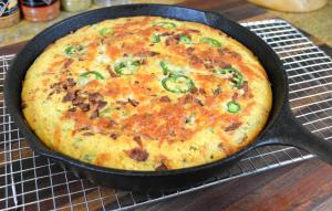 Bacon Jalapeno Cheese Skillet Cornbread Recipe 1016523 By Cookingwithcarolyn