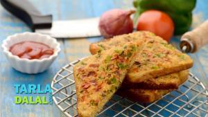 Rava Toast Sooji Toast 1018308 By Tarladalal