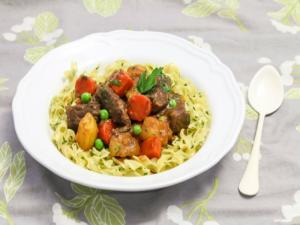Beef Stew With Buttered Noodles Recipe