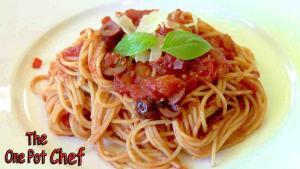 Spaghetti Puttanesca One Pot Chef