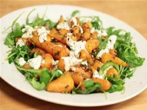 Roasted Baby Carrots With Coriander Yoghurt