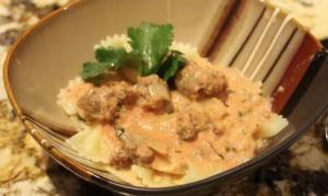 Sausage In Creamy Sauce