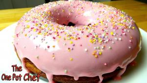 Giant Donut Cake One Pot Chef